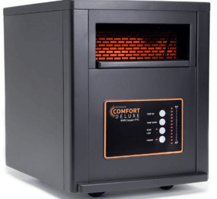 AirNmore Comfort Deluxe Infrared Space Heater with Remote