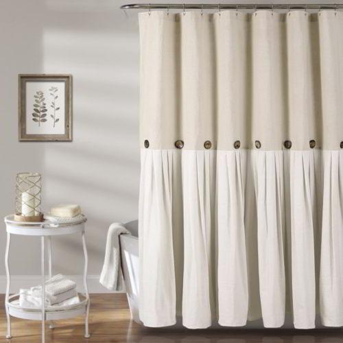 Lush Decor Button Shower Curtain