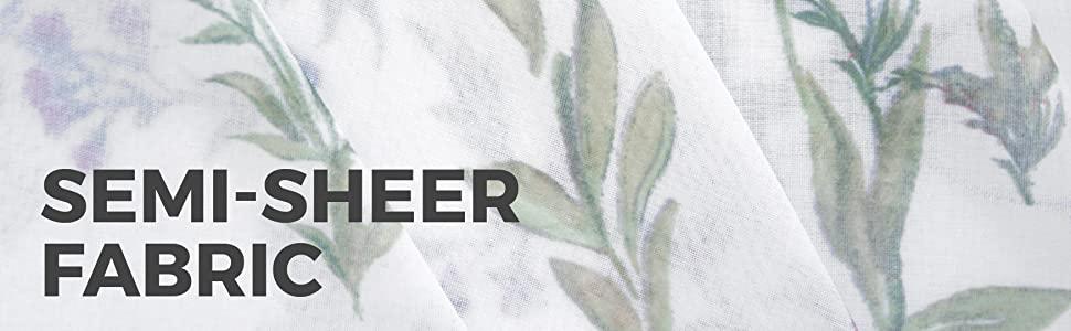 MAYTEX Dragonfly Garden Semi Sheer Fabric Shower Curtain