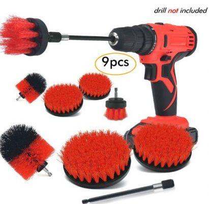 Drill Brush Attachment Set