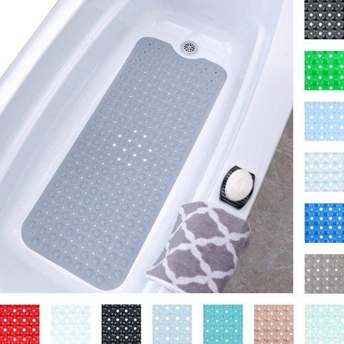 SlipX Solutions Gray Extra Long Bath Mat