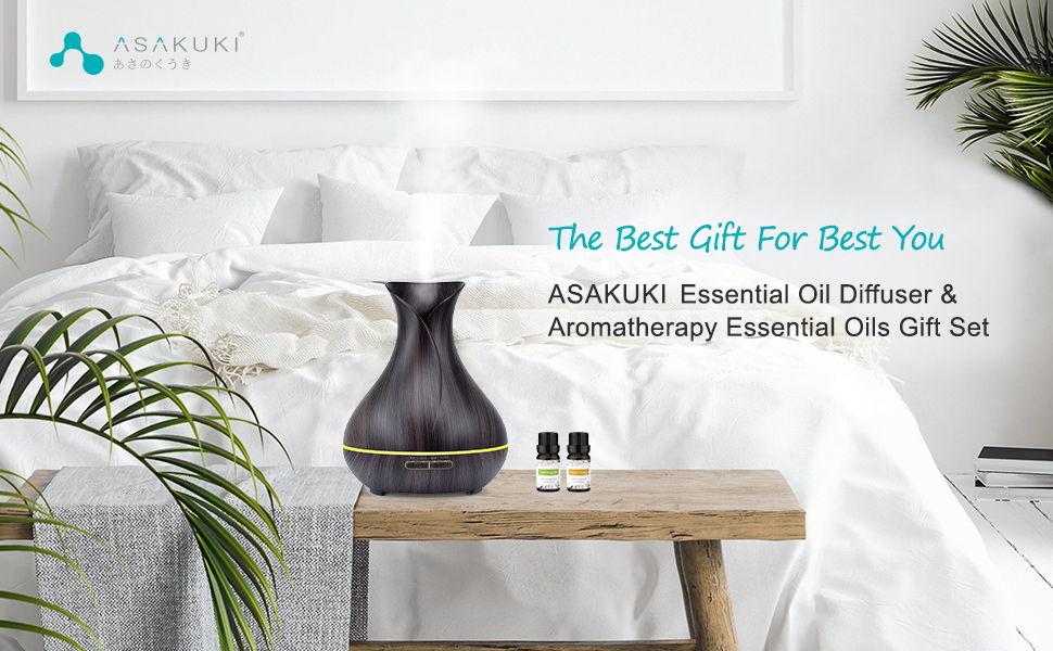 ASAKUKI 400ml Essential Oil Diffuser