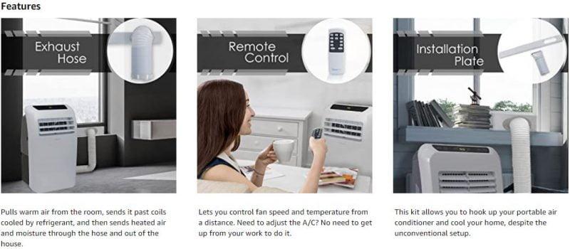SereneLife 8,000 BTU Portable Air Conditioner