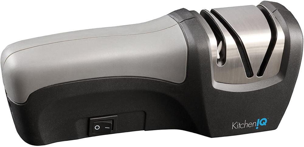 KitchenIQ 50029 Edge Gourmet Compact Electric and Manual Knife Sharpener